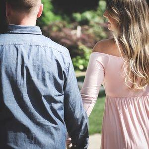 Dresses - Pink blush maternity dress